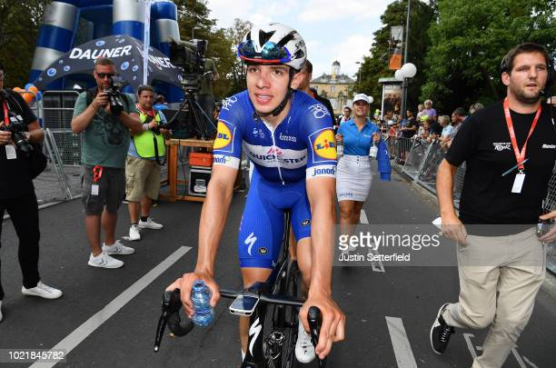 Arrival / Alvaro Jose Hodeg of Colombia and Team Quick-Step Floors / Celebration / during the 33rd Deutschland Tour 2018, a 157km stage from Koblenz...