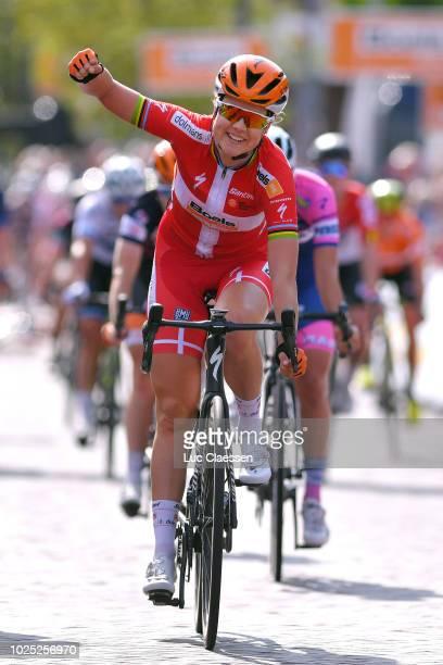 Arrival / Amalie Dideriksen of Denmark and Team Boels Dolmans Cycling Team / Celebration / Lorena Wiebes of Netherlands and Team Parkhotel Valkenburg...