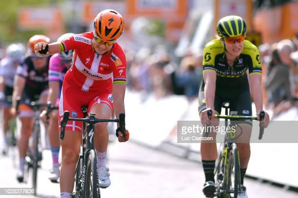 Arrival / Amalie Dideriksen of Denmark and Team Boels Dolmans Cycling Team / Celebration / Jolien Dhoore of Belgium and Team Mitchelton - Scott /...