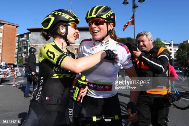 Arrival / Amanda Spratt of Australia and Team Mitchelton-Scott / Annemiek van Vleuten of The Netherlands and Team Mitchelton-Scott White Leader...