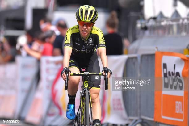 Arrival / Amanda Spratt of Australia and Team MitcheltonScott / during the 2nd LiegeBastogneLiege 2018 a 136km women's race from Bastogne to LiegeAns...