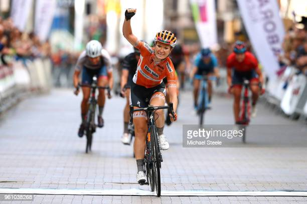 Arrival / Amy Pieters of The Netherlands and Boels - Dolmans Cycling Team / qCelebration / during the 31st Women WT Emakumeen. Bira 2018, Stage 3 a...