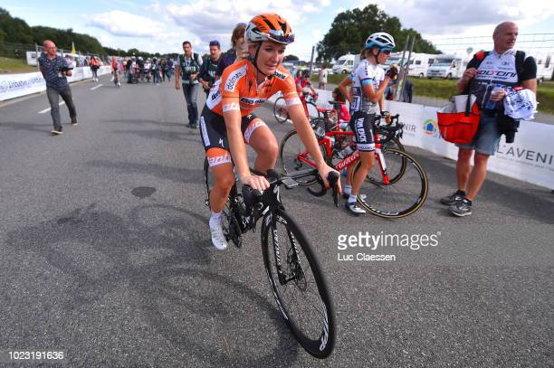 Arrival / Amy Pieters of The Netherlands and Boels Dolmans Cyclingteam / Celebration / during the 20th Grand Prix De Plouay Lorient Agglo Trophee...