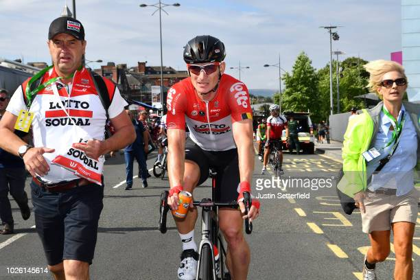 Arrival / Andre Greipel of Germany and Team Lotto Soudal / Celebration / during the 15th Tour of Britain 2018 Stage 1 a 1748km stage from Pembrey...