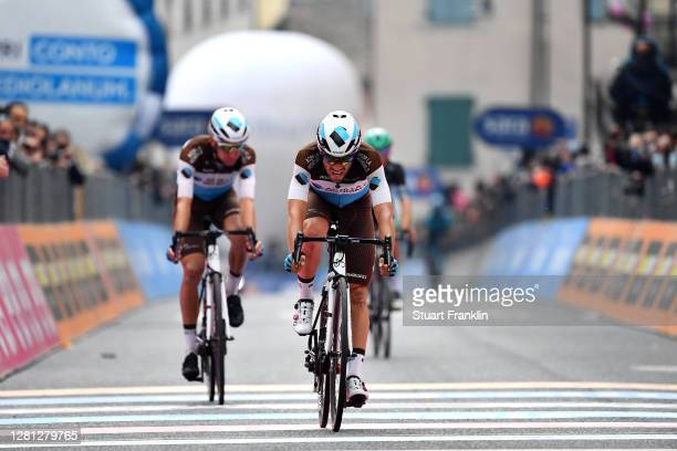 Arrival / Andrea Vendrame of Italy and Team Ag2R La Mondiale / Geoffrey Bouchard of France and Team Ag2R La Mondiale / during the 103rd Giro d'Italia...
