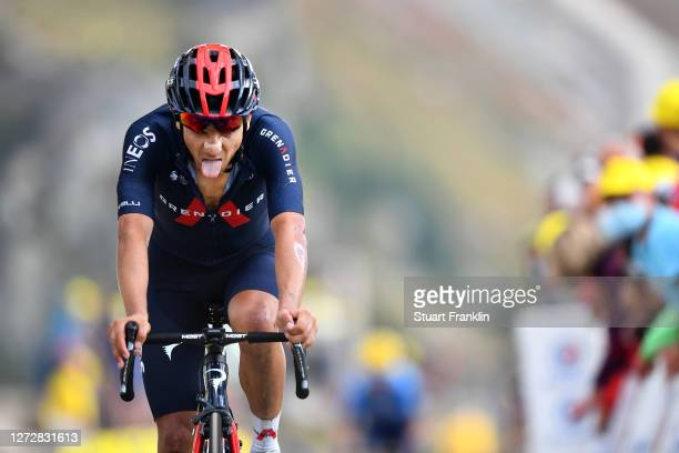 Arrival / Andrey Amador Bikkazakova of Costa Rica and Team INEOS Grenadiers / Col de la Loze / during the 107th Tour de France 2020, Stage 17 a 170km...
