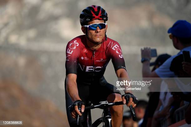 Arrival / Andrey Amador Bikkazakova of Costa Rica and Team INEOS / during the 6th UAE Tour 2020, Stage 2 a 168km stage from Hatta to Hatta Dam 419m /...