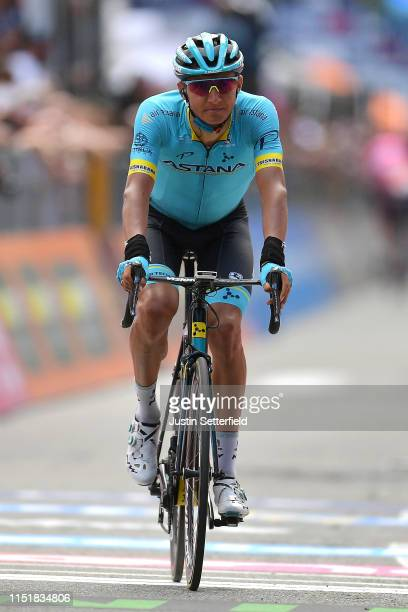 Arrival / Andrey Zeits of Kazahkstan and Astana Pro Team / during the 102nd Giro d'Italia 2019 Stage 15 a 232km stage from Ivrea to Como / Tour of...