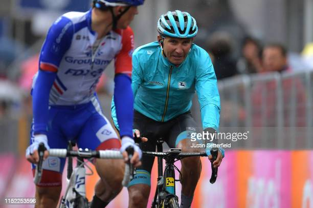 Arrival / Andrey Zeits of Kazahkstan and Astana Pro Team / Rain / during the 102nd Giro d'Italia 2019 Stage 16 a 194km stage from Lovere to Ponte di...