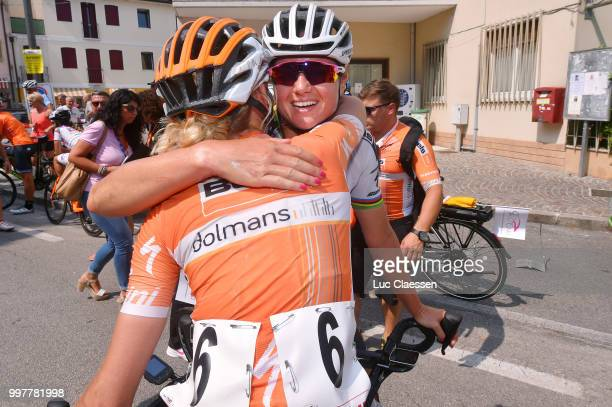 Arrival / Anna Plichta of Poland and Boels - Dolmans Cycling Team / Chantal Blaak of The Netherlands and Boels - Dolmans Cycling Team / Celebration /...