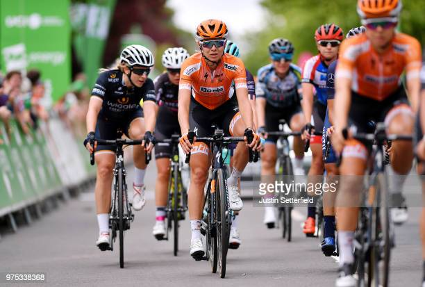 Arrival / Anna Plichta of Poland and Boels - Dolmans Cycling Team / during the 5th OVO Energy Women's Tour 2018, Stage 3 a 151km stage from...