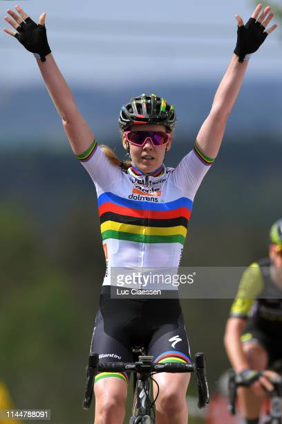 Arrival / Anna van der Breggen of The Netherlands and Boels Dolmans Cycling Team / Celebration / during the 22nd La Fleche Wallonne 2019, Women Elite...