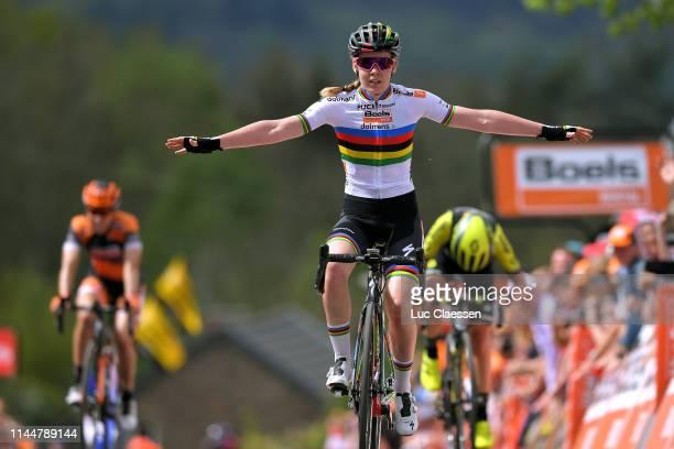 Arrival / Anna van der Breggen of The Netherlands and Boels Dolmans Cycling Team / Celebration / Annemiek van Vleuten of The Netherlands and Team...