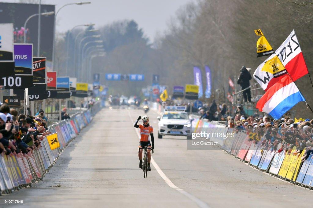 Arrival / Anna Van Der Breggen of The Netherlands and Boels - Dolmans Cycling Team / Celebration / during the 15th Tour of Flanders 2018 - Ronde Van Vlaanderen a 150,9km women's race from Oudenaarde to Oudenaarde on April 1, 2018 in Oudenaarde, Belgium.