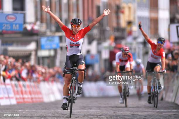 Arrival / Annelies Dom of Belgium and Team Lotto Soudal Ladies / Celebration / Valerie Demey of Belgium and Lotto Soudal Ladies / Sanne Cant of...