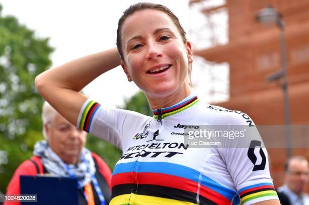Arrival / Annemiek Van Vleuten of Netherlands and Team Mitchelton - Scott / during the 21st Boels Rental Ladies Tour 2018, Prologue - Stage 1 a 3,2km...