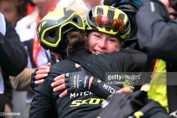 Arrival / Annemiek Van Vleuten of The Netherlands and Team Mitchelton-Scott / Amanda Spratt of Australia and Team Mitchelton-Scott / Celebration /...