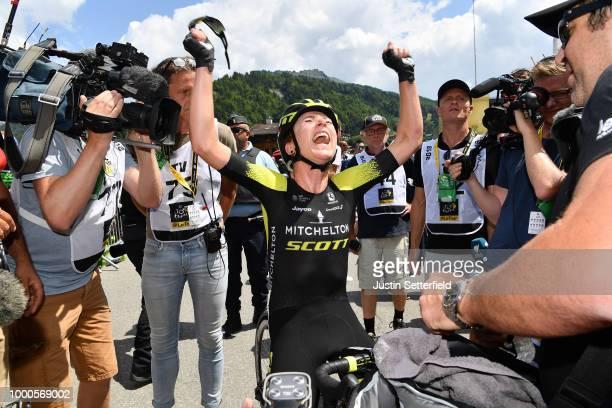 Arrival / Annemiek van Vleuten of The Netherlands and Team Mitchelton-Scott / Celebration / during the 5th La Course 2018 - by Le Tour de France a...
