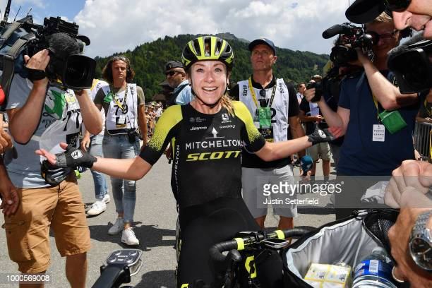 Arrival / Annemiek van Vleuten of The Netherlands and Team Mitchelton-Scott / Celebration / during the 5th La Course 2018 - by Le Tour de France a...