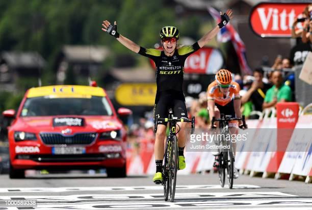 Arrival / Annemiek van Vleuten of The Netherlands and Team Mitchelton-Scott / Celebration / Anna Van Der Breggen of The Netherlands and Boels -...