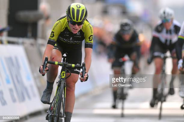 Arrival / Annemiek Van Vleuten of The Netherlands and Team Mitchelton-Scott / during the 15th Tour of Flanders 2018 - Ronde Van Vlaanderen a 150,9km...