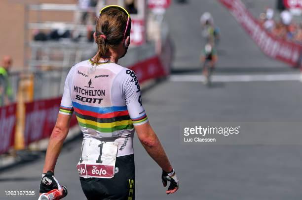 Arrival / Annemiek Van Vleuten of The Netherlands and Team Mitchelton Scott World Champion Jersey / Celebration / Dust / during the Eroica - 6th...