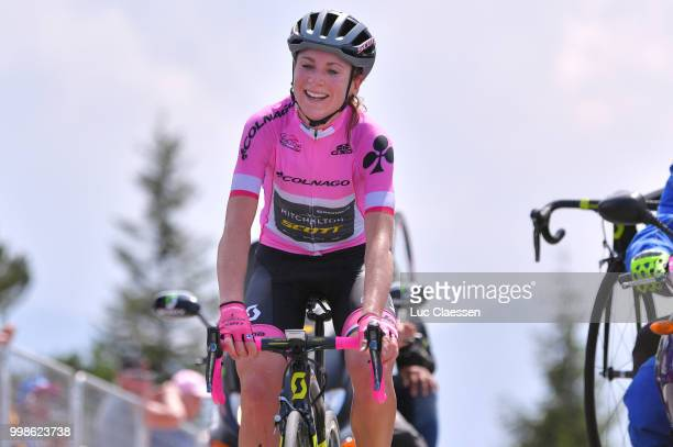 Arrival / Annemiek van Vleuten of The Netherlands and Team Mitchelton-Scott Pink leader jersey / Celebration / during the 29th Tour of Italy 2018 -...
