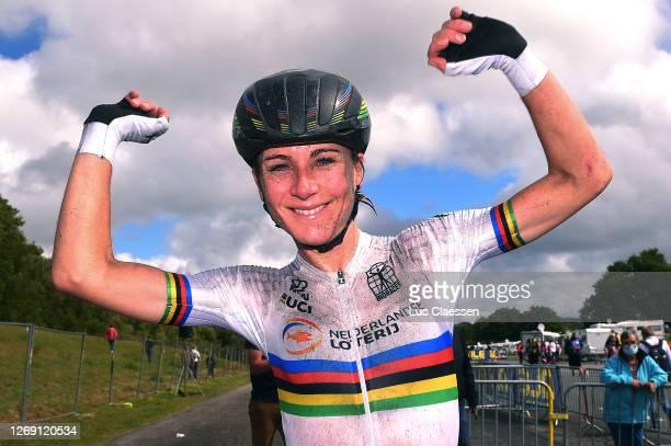 Arrival / Annemiek Van Vleuten of The Netherlands / Celebration / during the 26th UEC Road European Championships 2020, Women's Elite Road Race a...
