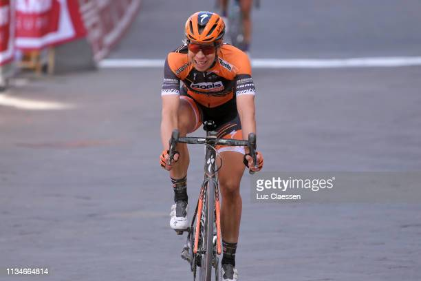 Arrival / Annika Langvad of Denmark and Boels Dolmans Cyclingteam / Celebration / during the 5th Strade Bianche 2019, Women a 136km race from Siena...