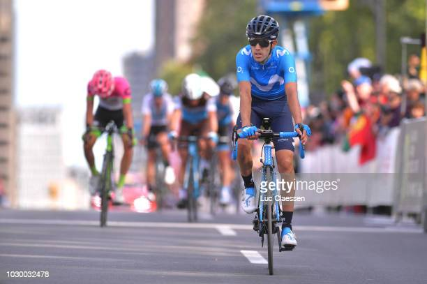 Arrival / Antonio Pedrero of Spain and Movistar Team / during the 9th Grand Prix Cycliste de Montreal 2018 a 1952km race from Montreal to Montreal...