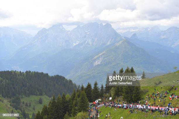 Arrival Area / Monte Zoncolan / Fans / Public / Peloton / Mountains / during the 101st Tour of Italy 2018, Stage 14 a 186km stage from San Vito Al...