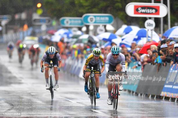 Arrival / Arlenis Sierra of Cuba and Astana Women's Team / Amanda Spratt of Australia and Team Mitchelton - SCOTT / Tayler Wiles of The United States...