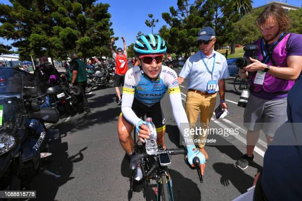 Arrival / Arlenis Sierra of Cuba and Astana Women's Team / Celebration / during the 5th Cadel Evans Great Ocean Road Race 2019 - Deakin University,...