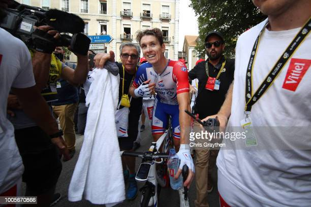 Arrival / Arnaud Demare of France and Team Groupama FDJ / Celebration / during the 105th Tour de France 2018, Stage 18 a 171km stage from...