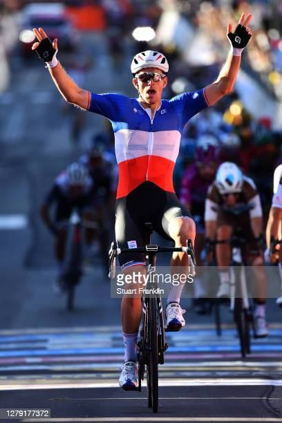 Arrival / Arnaud Demare of France and Team Groupama - FDJ / Celebration / during the 103rd Giro d'Italia 2020, Stage 6 a 188km stage from...