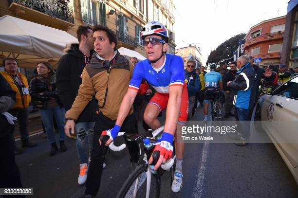 Arrival / Arnaud Demare of France and Team Groupama FDJ / during the 109th MilanSanremo 2018 a 291km race from Milan to Sanremo on March 17 2018 in...