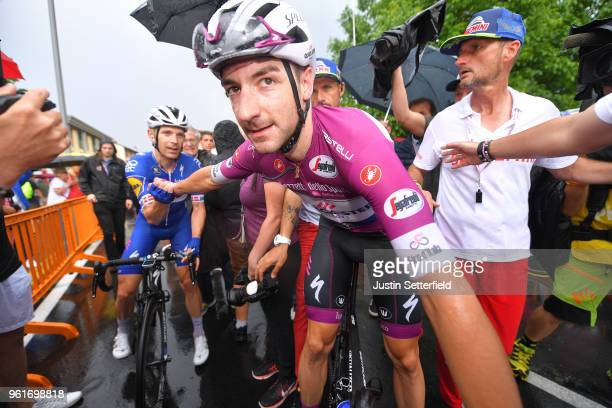 Arrival / Arrival / Elia Viviani of Italy and Team QuickStep Floors Purple Points Jersey / Celebration / Michael Morkov of Denmark and Team QuickStep...