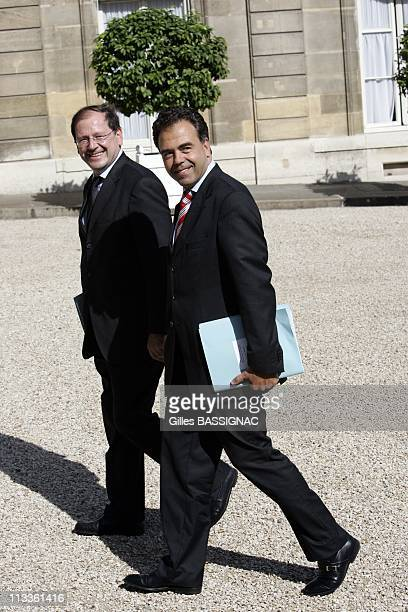Arrival At Council Of Ministers Of The New Government Of Francois Fillon In Paris France On June 20 2007 Council of Ministers of the new government...