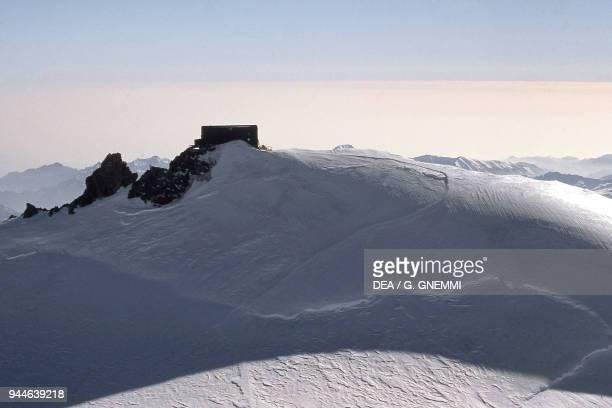 Arrival at Margherita Hut Alagna Valsesia Monte Rosa Pennine Alps Piedmont Italy