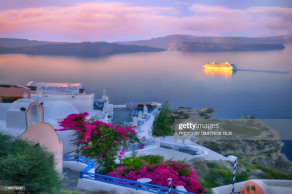 Arrival at Oia 2 : Stock Photo