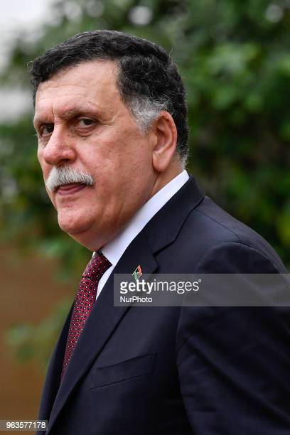Arrival at the Elysée Palace of His Exc. Mr. Fayez EL SARRAJ, President of the Presidential Council of the National Union of the State of Libya, for...