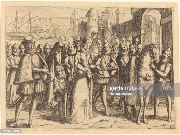 Arrival at Valencia, 1612. Artist Jacques Callot.