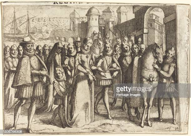 Arrival at Valencia [recto], 1612. Artist Jacques Callot.