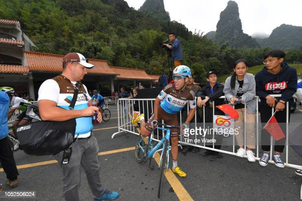 Arrival / Axel Domont of France and Team Ag2R La Mondiale / Soigneur / during the 2nd Tour of Guangxi 2018 Stage 4 a 1522km stage from Nanning to...