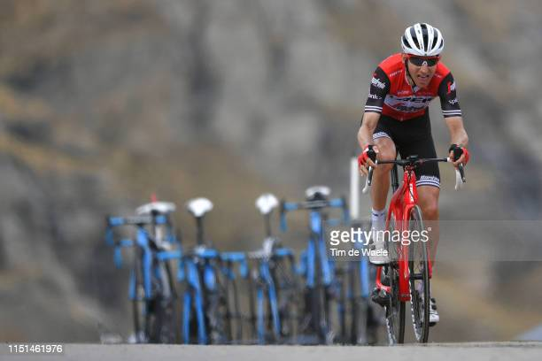 Arrival / Bauke Mollema of The Netherlands and Team Trek Segafredo / during the 102nd Giro d'Italia 2019 Stage 13 a 196km stage from Pinerolo to...