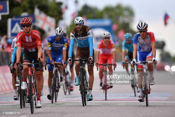 Arrival / Ben Gastauer of Luxembourg and Team AG2R La Mondiale / Miles Scotson of Australia and Team Groupama FDJ / during the 102nd Giro d'Italia...