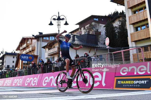 Arrival / Ben O'connor of Australia and NTT Pro Cycling Team / Celebration / during the 103rd Giro d'Italia 2020, Stage 17 a 203km stage from Bassano...