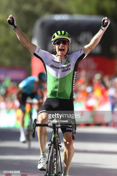 Arrival / Benjamin King of The United States and Team Dimension Data / Celebration / during the 73rd Tour of Spain 2018, Stage 4 a 161,4km stage from...