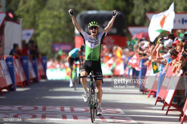 Arrival / Benjamin King of The United States and Team Dimension Data / Celebration / during the 73rd Tour of Spain 2018 Stage 4 a 1614km stage from...