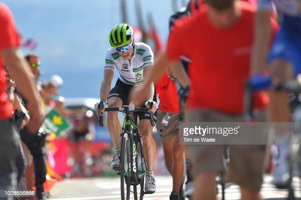 Arrival / Benjamin King of The United States and Team Dimension Data White Combined Jersey / during the 73rd Tour of Spain 2018, Stage 13 a 174,8km...